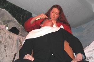 die-rothen-res-beim-rasieren,-monika-jäger